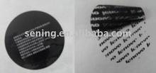 tamper evident sticky labels & material