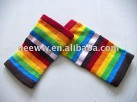 short striped woman knitted leggings
