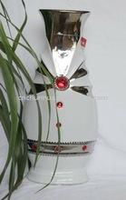fashion new ceramic decorative vase, porcelain vase ceramic craft 2012