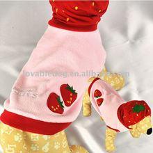 Dog clothes Strawberry Plush Hooded Coat