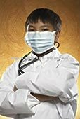 disposable Surgical 145*95 White children tieback mask