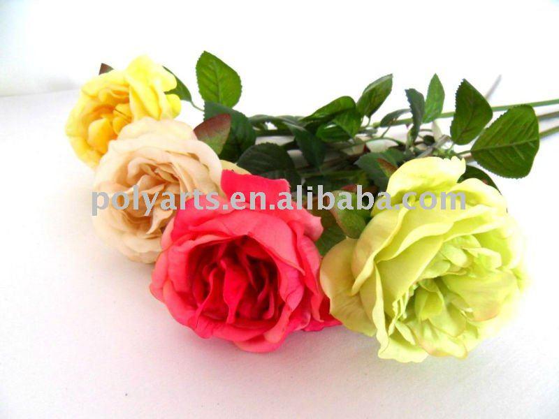 flores artificiais para a decoração do casamento da flor rosaFlores