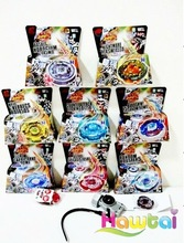 2011 latest eight models spinning top metal fusion beyblade toys wholesale