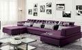sofá en sección con diseño moderno y confortable L195