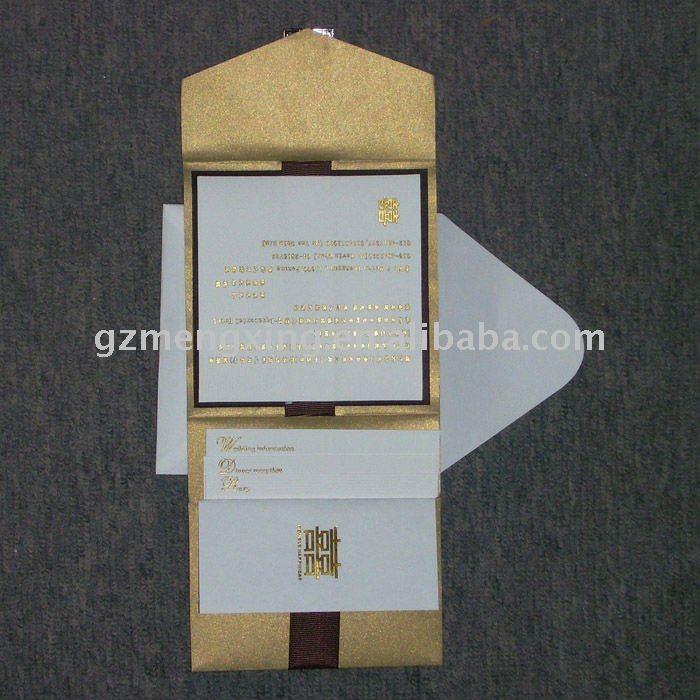 See larger image Hindu style Arabian style wedding invitation cardsHW076