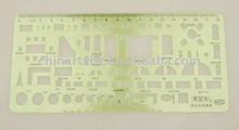 18cm Architectural Furniture Symbols Template Stencil Scale