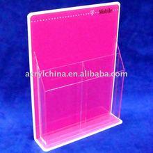 acrylic flyer display / brochure display stand / counter brochure Holders