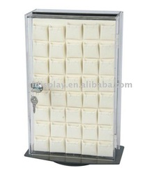 small acrylic jewelry display showing case