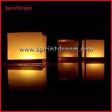 Wishing square floating candle lantern