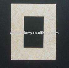 Wood grain, marbling photo frame matboard