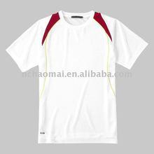 2012 summer promotional ! white 100% polyester men's round neck t-shirt