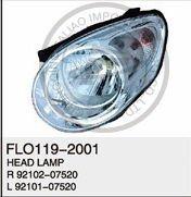NEW BRIGHT KIA HEAD LAMP FOR PICANTO '08 OEM NO,: R92102-07520 L92101-07520