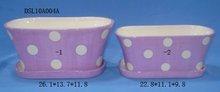 Fashion Ceramic Home Decoration Flower Pot DSL10A004A