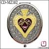 Purse Size Metal Anniversary Gift Mirror CD-MZ102