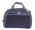 CN stock/stocklot striate travelling bag/travel bag