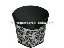 fashion foldable storage ottoman with coating