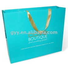 Blue color printed Blanket paper packaging bag