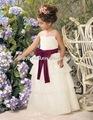mit Bowknot-Schärpe kleidet schöne Blumenkinder Mädchen-Parteikleider 1031