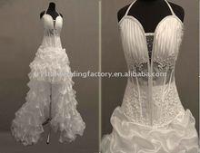 New arrival beaded halter custom-made real bridal wedding dress/wedding dress CWFaw456