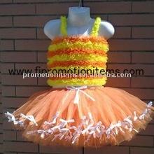 Белый обод оранжевый шифоновая юбка костюм для детей