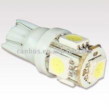 T10 W5W 194 White Car Side Light Bulb Lamp 5 SMD 5050 LED
