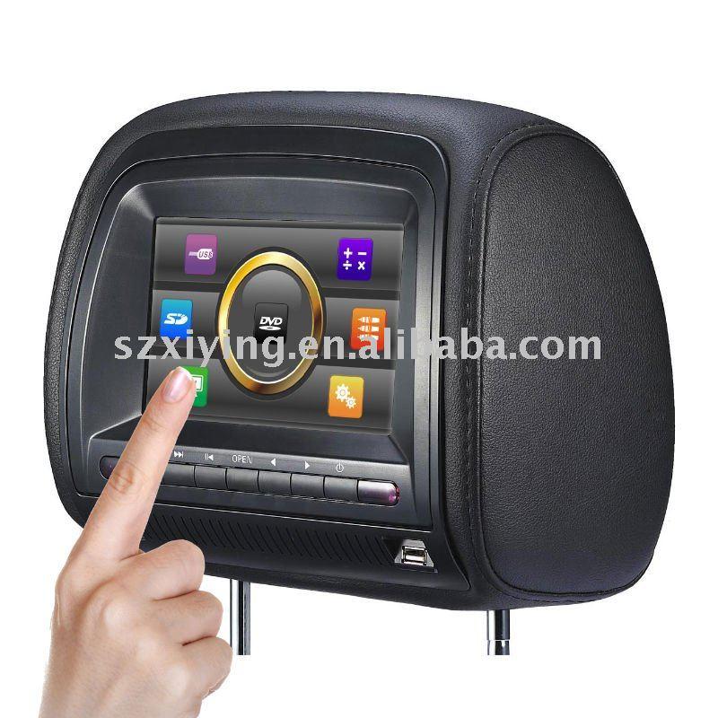 Headrest dvd player touch screen