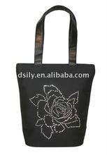 Fashion Ladies Handbag with Crystal Flower