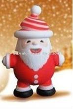 Fashion zinc alloy chritmas Santa Claus keyring sound key ring led flashing keychain key chain gift