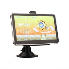 5 Inch Portable TFT Touch Screen Car GPS Navigator - Built-in 4GB Memory - Media - Games