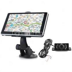 Car GPS Navigator + Wireless Rearview Camera + 6 Inch Touchscreen + FM + Bluetooth + AVIN