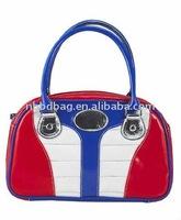 ladies fashion small pvc tote bags handbags
