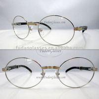buffalo horn eyeglasses 2011 hot style eyewear glasses frame CT7550178(57-22) black horn bended eyeglasses