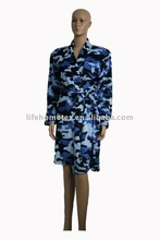 Camouflage Printed Coral Fleece Bathrobe for Women