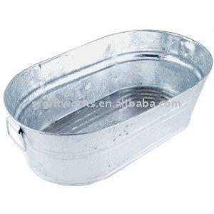 Galvanized Oval Wash Tub