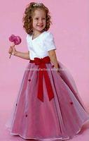 Beautiful custom-made flower girl dress/kid dress with jacket CWFaf1047