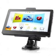 Car GPS Navigator + 7 Inch Touchscreen + FM Transmitter + Built-in 4GB Memory + Media