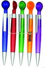 retractable ballpoint pen with spoon top