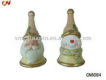 Ceramic Christmas decoration snowman and santa