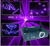 Night club purple animation laser light show