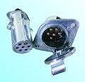 24v alumínio tipo s 7 plug-reboque pino e soquete