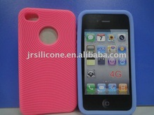 Fashion Concentric Circles Silicone Case/skin/cover for mobie phone
