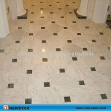floor carrara marble and indian green all honed