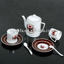 Tea tableware bone china with Lovers coffee shop HF6852