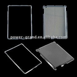Clear or rubberized black crystal case for Apple Ipad 2(PAYPAL)