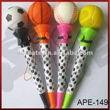 Four of ball games ballpoint pen