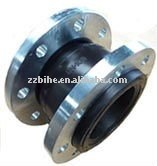 Union type rubber expansion joint for pipe couplings