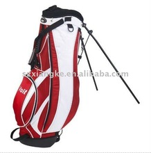 Red & White Stand Bag with Dual Shoulder Strap