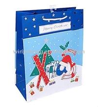 2012 Merry Christmas paper gift bag