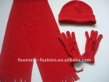 Fashion red polar fleece set