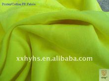 Alta visível retardador de chama amarela Protex / tecido de algodão